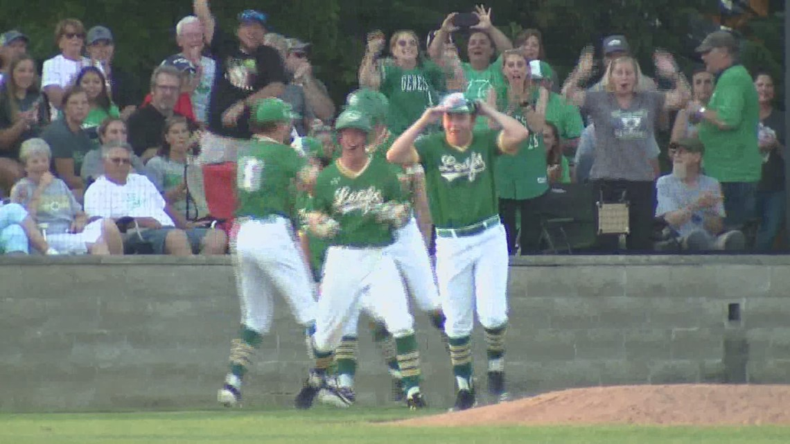 Geneseo Baseball wins first Sectional Title