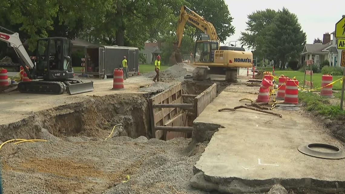 Locust street sinkhole progress being made