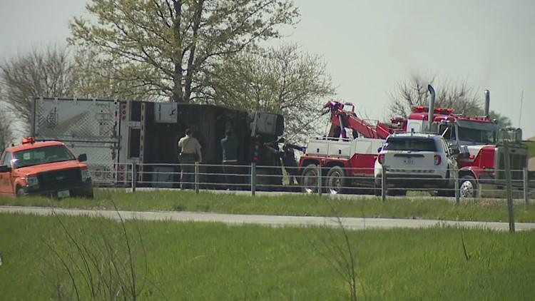 I-80 traffic near Brady Street interchange slowed for hours after semi-truck rollover