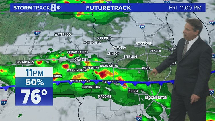 Better chance for showers/t-storms developing for your Friday