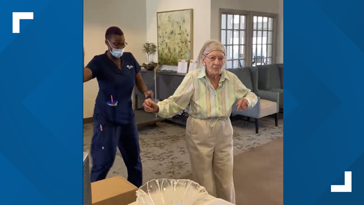 104-year-old Assisted Living resident makes waves with dance