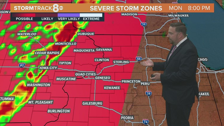 Last day of summer heat could fuel strong storms this evening