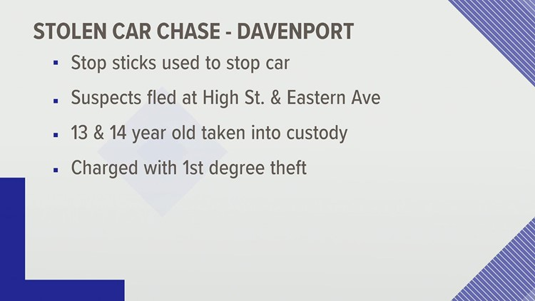 Five teenagers charged for stolen car incidents early Wednesday