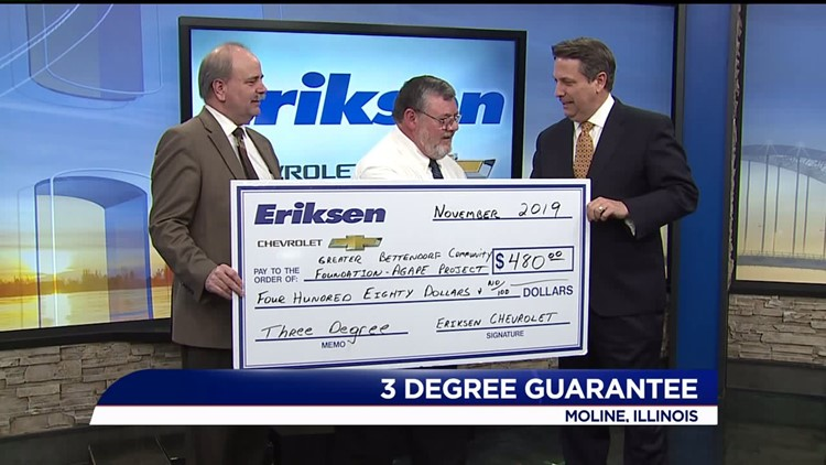Greater Bettendorf Community Foundation – AGAPE Center Receives Funds from the Three Degree Guarantee
