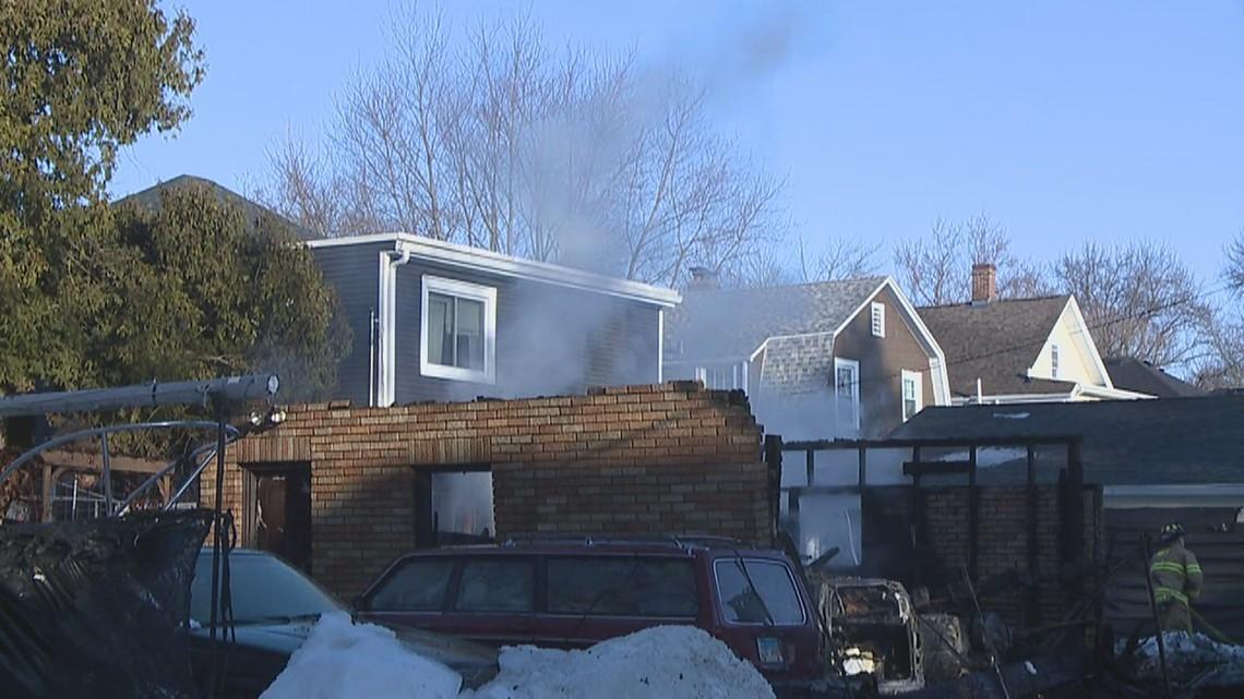 Investigators looking into garage fire