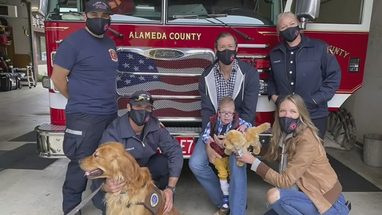 Toddler alive against all odds, gets amazing 2nd birthday party from firefighters