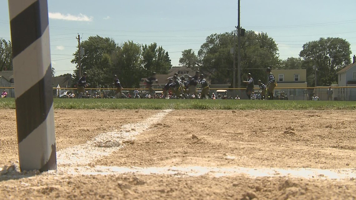 Vintage Football Game Taking Place in Rock Island