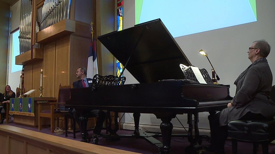 Double-grand Pleyel piano in Bettendorf