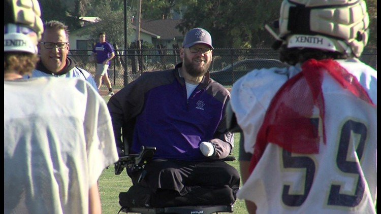 Coach lost both legs, his left hand and some fingers – but not his positive outlook