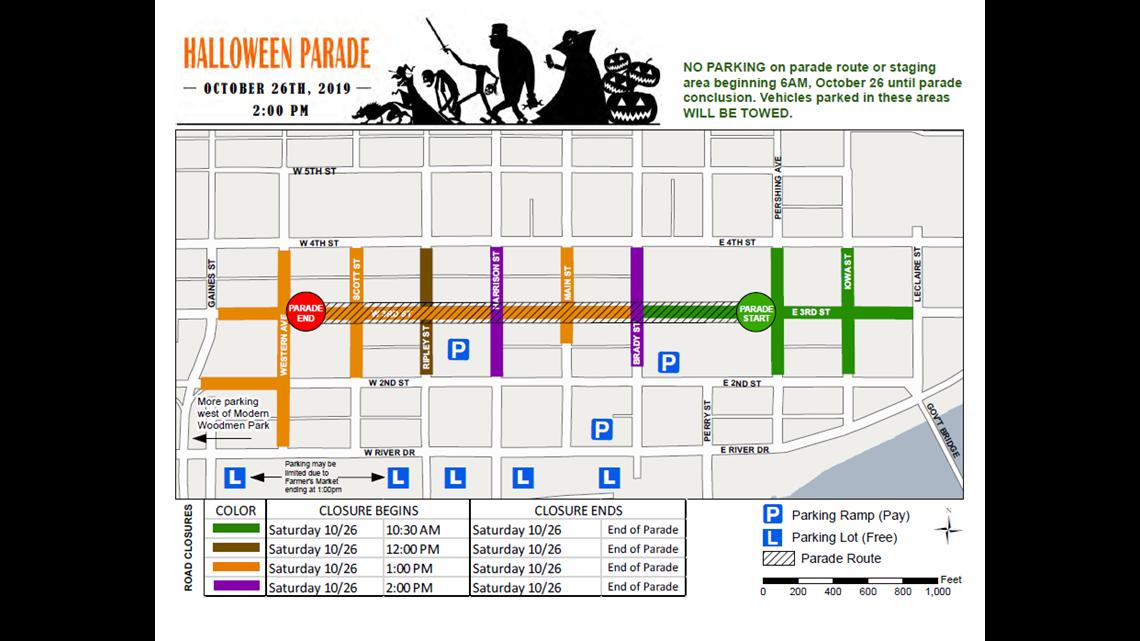 Davenport Halloween Parade 2020 Street Closures Davenport's Halloween parade will cause road closures for 3.5