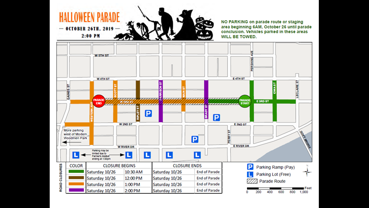 Halloween Parade Davenport 2020 Davenport's Halloween parade will cause road closures for 3.5