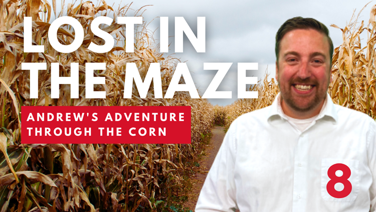 Andrew Stutzke takes on the Pride of the Wapsi corn maze
