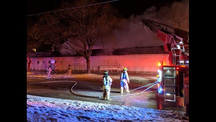 Fire at Captain's Table closes portion of River Drive in Moline
