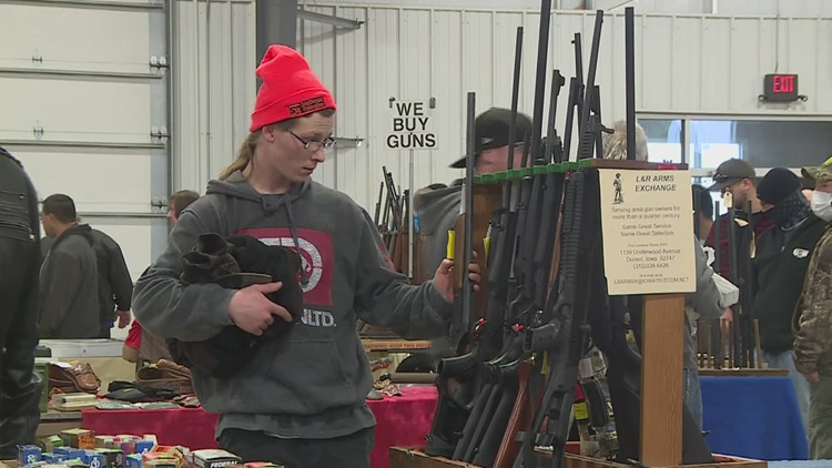 'Demand is extremely high': Thousands attend, guns and ammo sales skyrocket at Davenport Gun & Knife Show