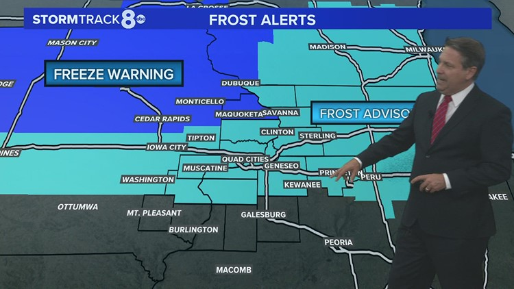 Getting frosty for some overnight