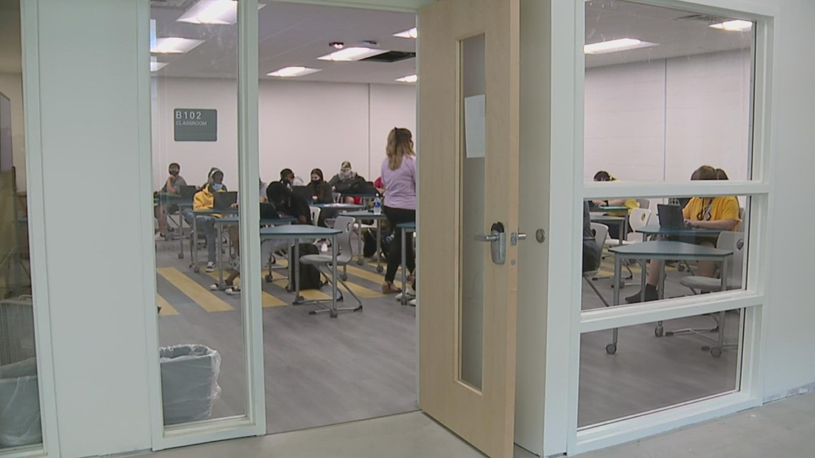 WATCH: Pandemic shortages, supply chain issues delay Galesburg High School's $41.5 million renovations