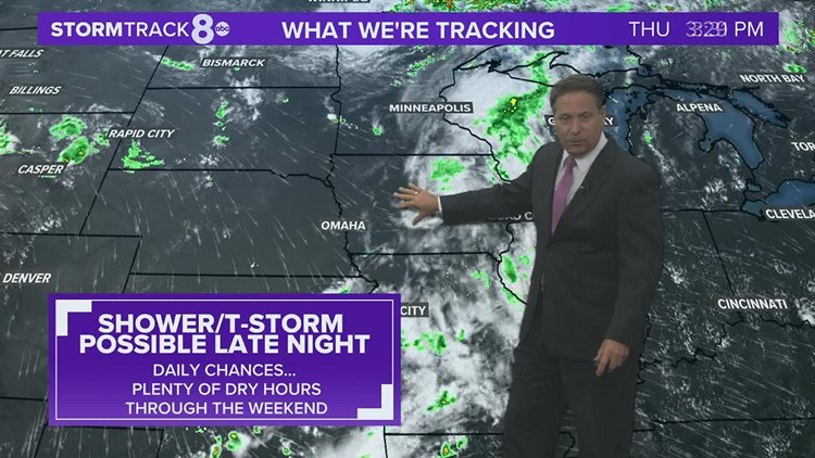 Heat to build in the coming days with daily chances for showers & t-storms