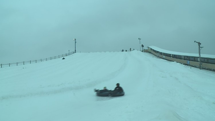 Many braved the ice and rain for a New Years ride at Snowstar Winter Park