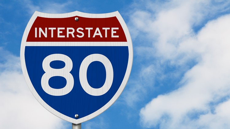 What does the I-80 construction timeline look like?