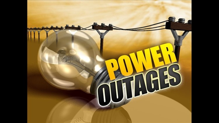 Thousands lose power Sunday night due to weather