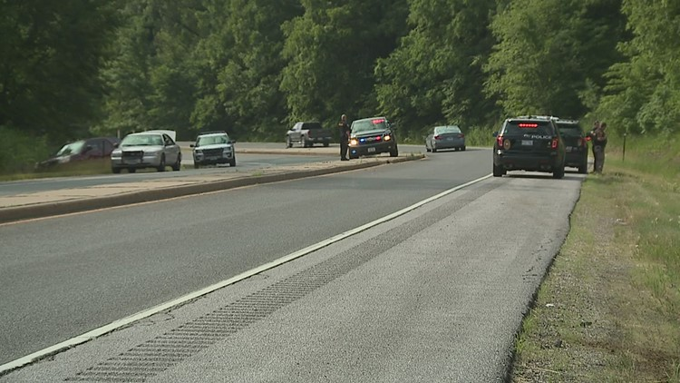 Police search for suspect after being led on car, foot chase across state lines