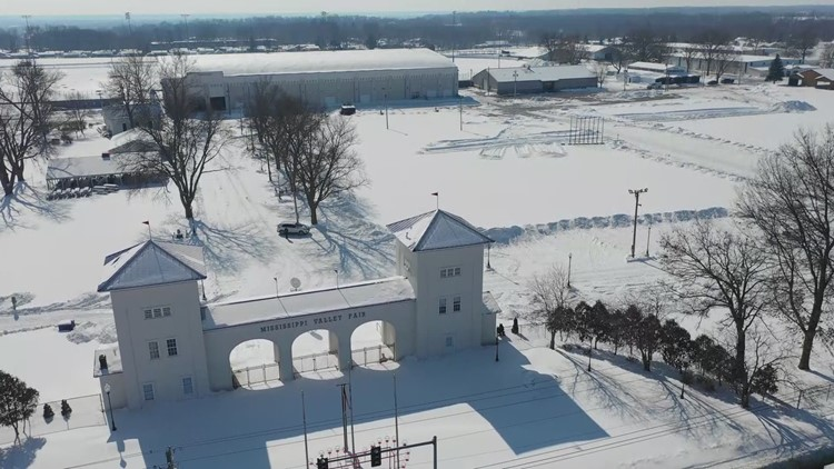 Watch: Six months away from the fair, the News 8 Drone flies over the Mississippi Valley Fairgrounds in Davenport