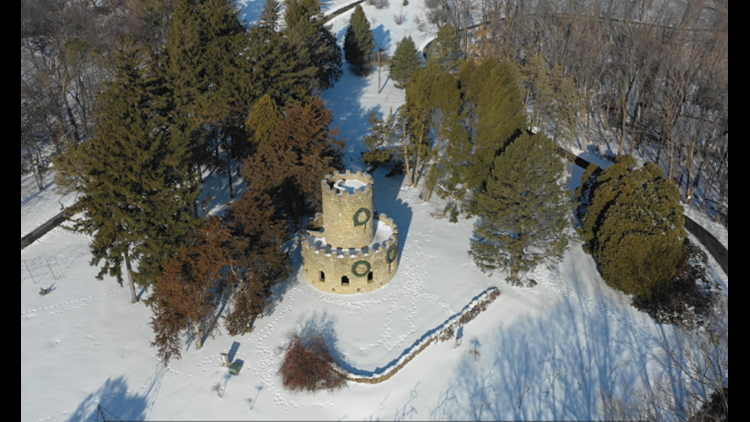 Watch: News 8 Drone flies high over Eagle Point Park in Clinton