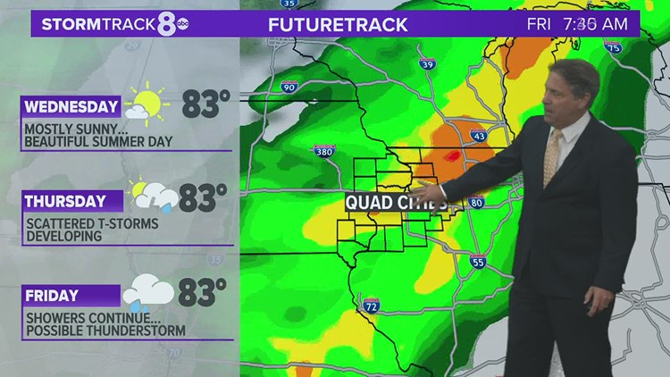 Thunderstorm chances to increase later this week