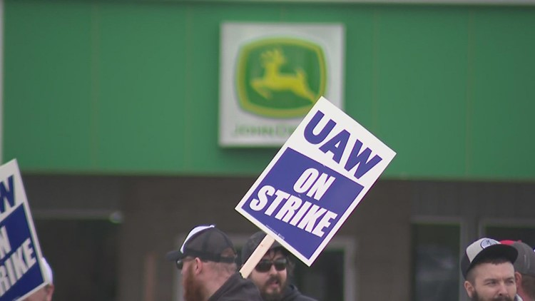 'Solidarity is the glue that holds it all together, and it's what makes a strike effective or ineffective'   John Deere workers go on strike