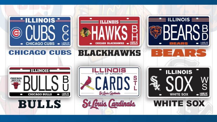 Sports team license plates have raised more than $13 million for Illinois schools