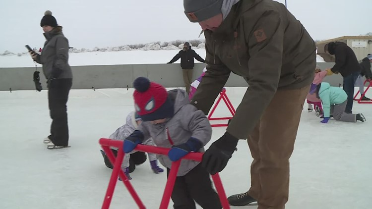 Outdoor skating returns in Clinton, after rink was damaged