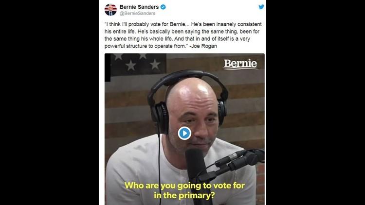 """Joe Rogan trends #1 on Twitter as """"woke leftists"""" rage over his half endorsement of Bernie Sanders"""