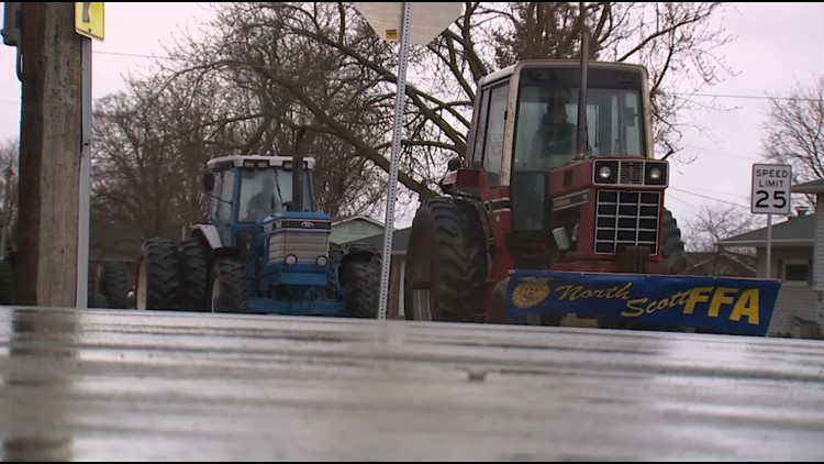 North Scott FFA holds tractor parade during National Agriculture Week