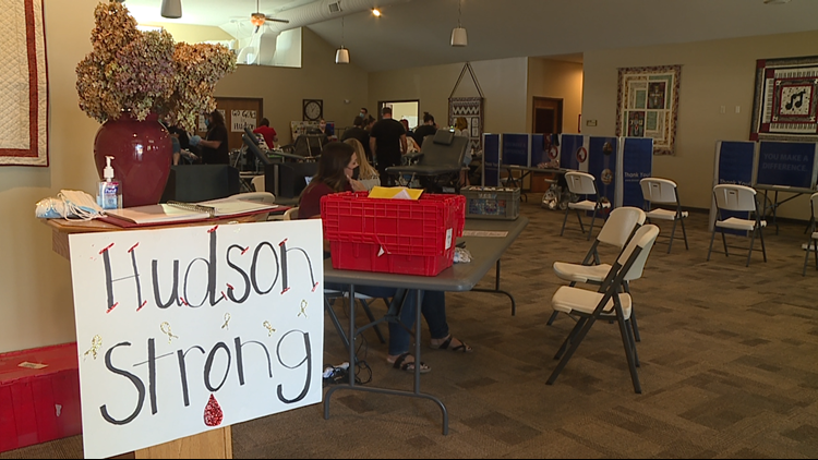 'Hudson's Heroes' donate blood in honor of Childhood Cancer Awareness Month