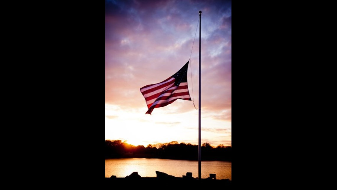 Flags fly half-staff in Virginia to honor the victims of