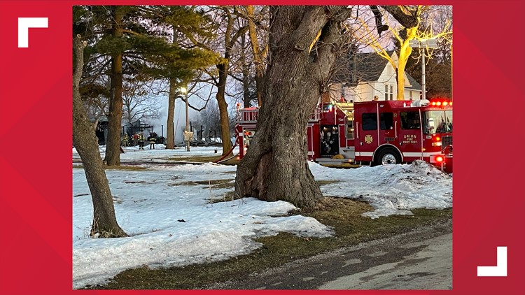 Multiple fire crews battle structure fire in Orion Illinois Saturday afternoon