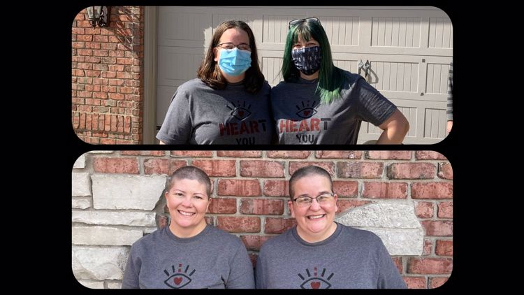 Galesburg sisters shave their hair raising $2k for cancer research