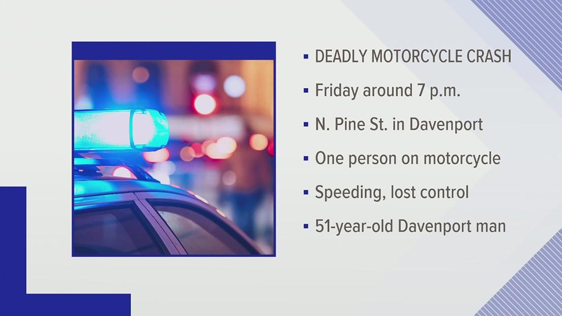 One killed in Davenport motorcycle crash