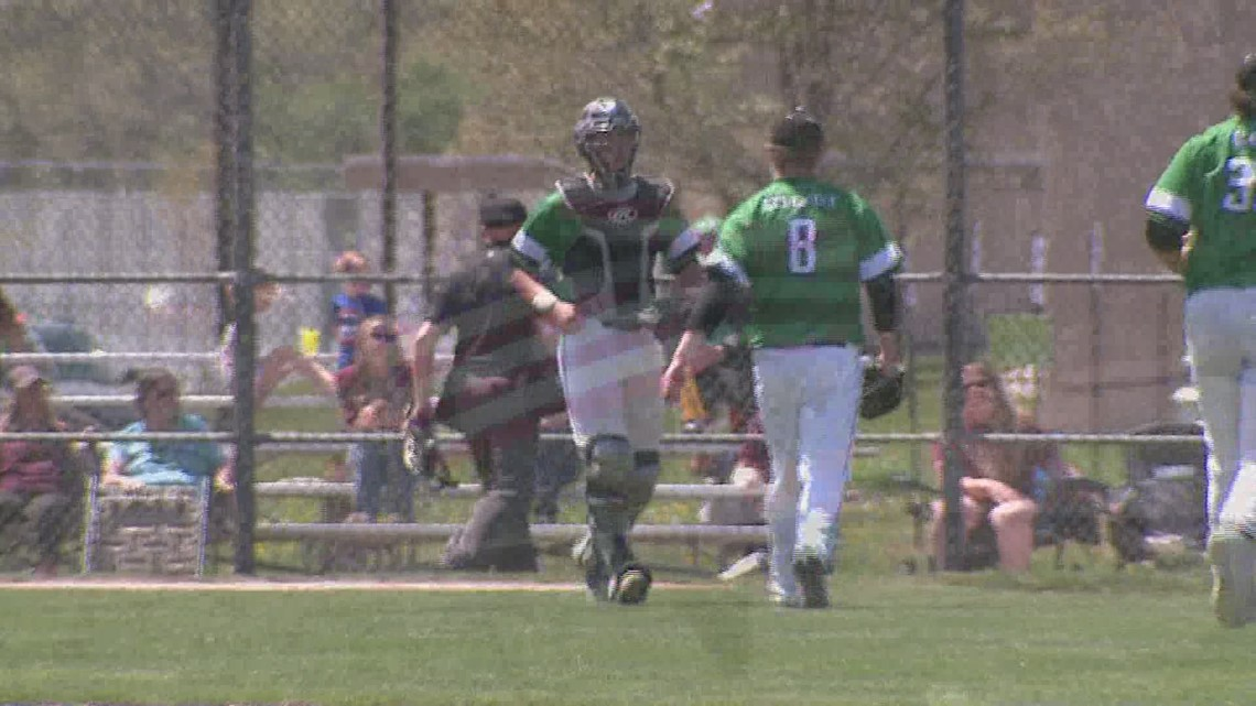Alleman and Moline Split baseball doubleheader