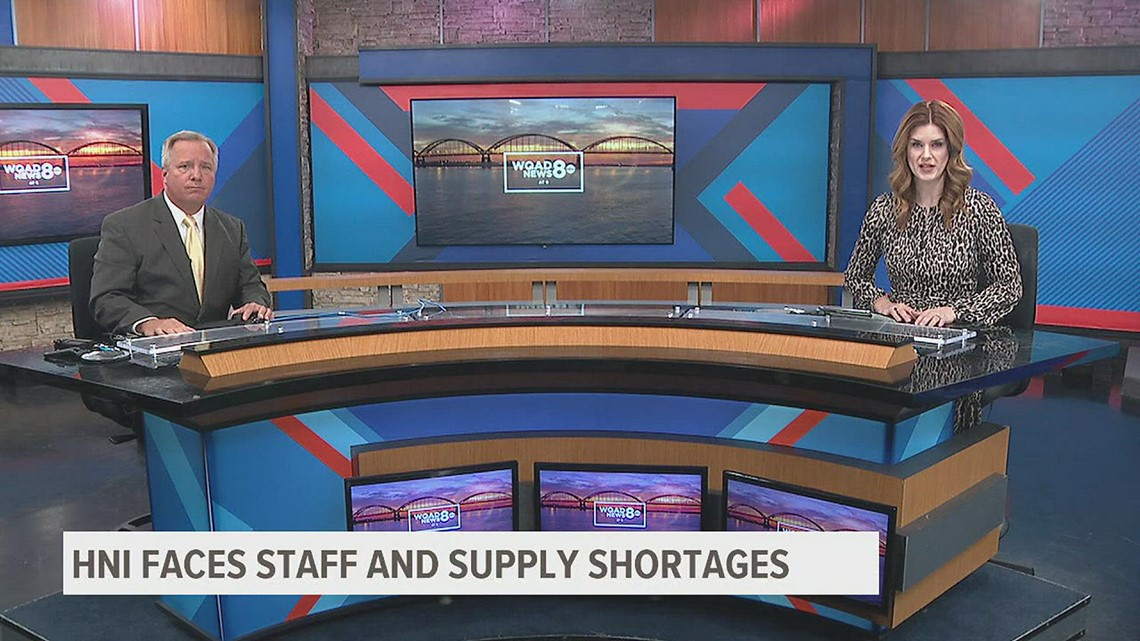 WATCH: HNI Corporation says costs of staff, supply shortages are adding up