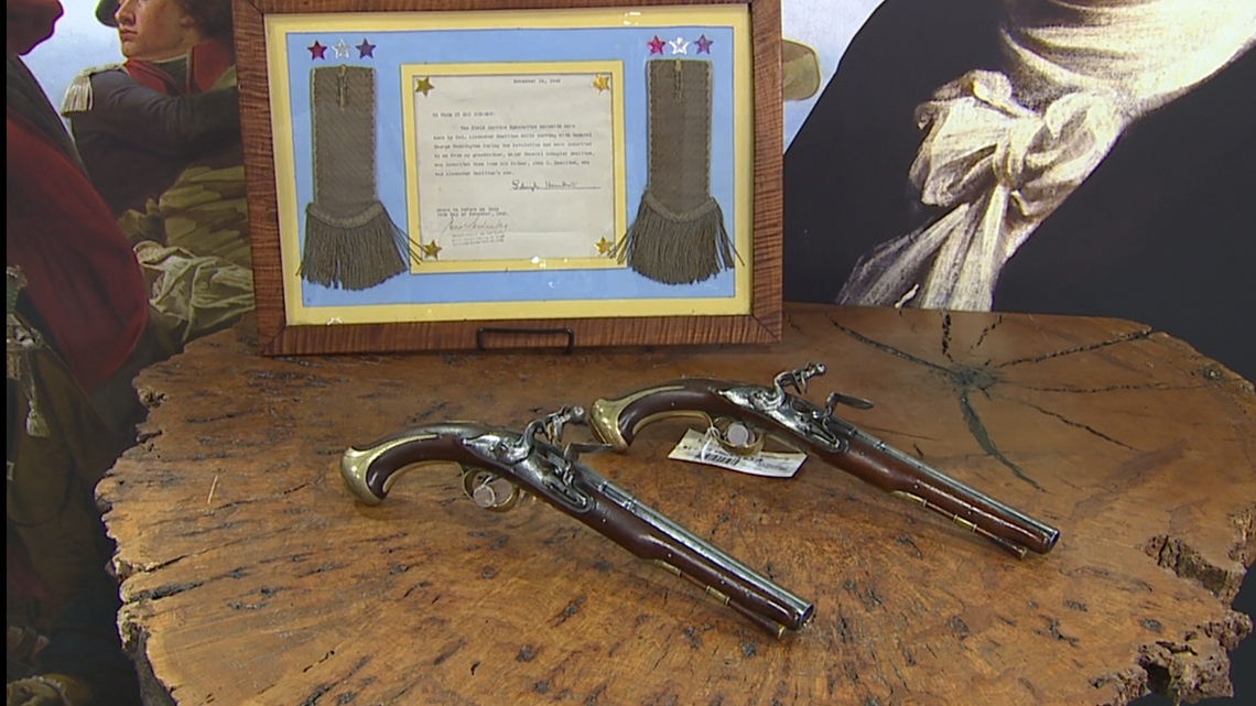 Pistols owned by Alexander Hamilton to be auctioned off by Rock Island Auction Company