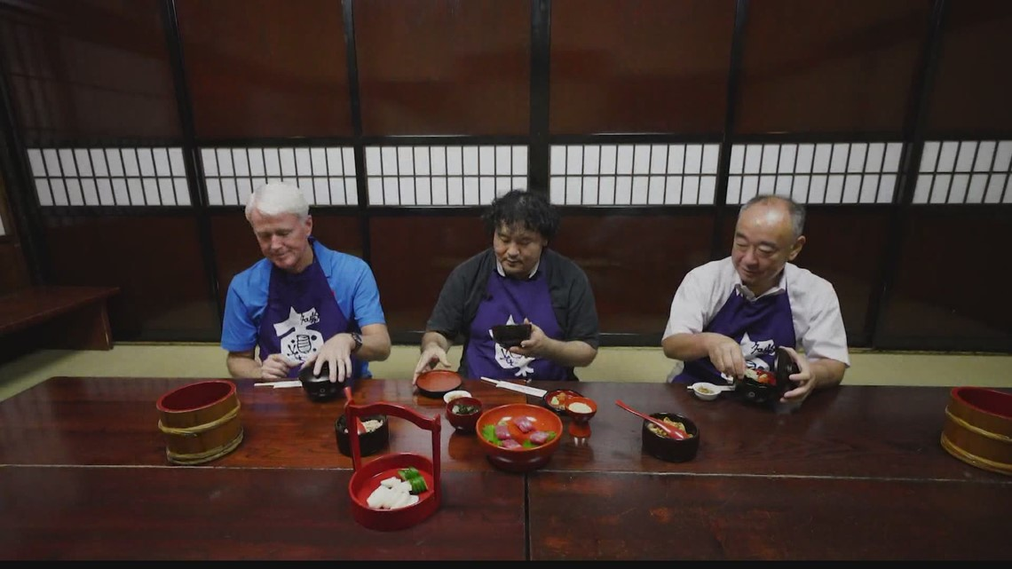 Tokyo restaurant makes sure customers don't leave hungry.