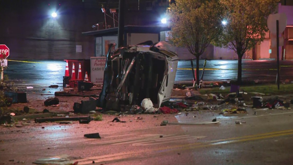 Chase leads to serious multiple-vehicle accident south of downtown