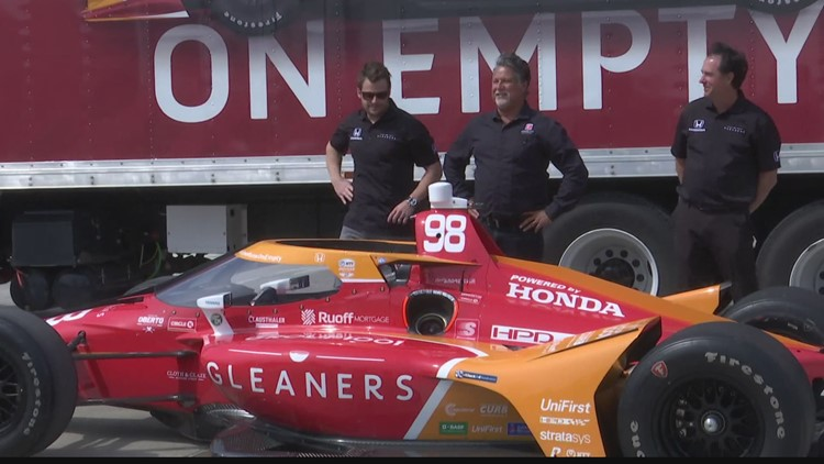 Marco Andretti teams up with Gleaners Food Bank for Indy 500 ride