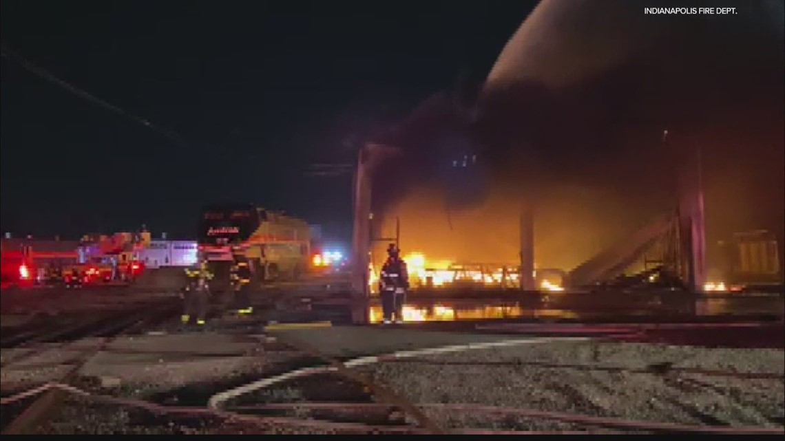 Overnight fire damages Amtrak buildings