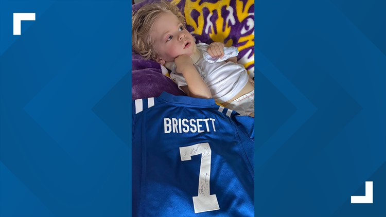 Colts gift signed jersey to Zionsville toddler recovering after nearly drowning