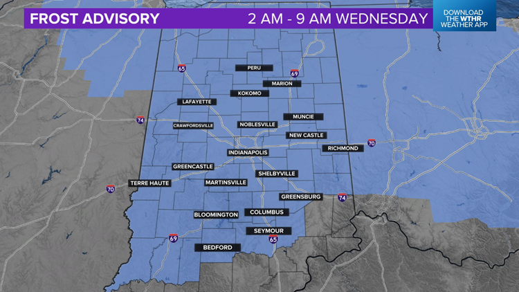 Live Doppler 13 Weather Blog: Frost Advisory and near-record lows Wednesday morning