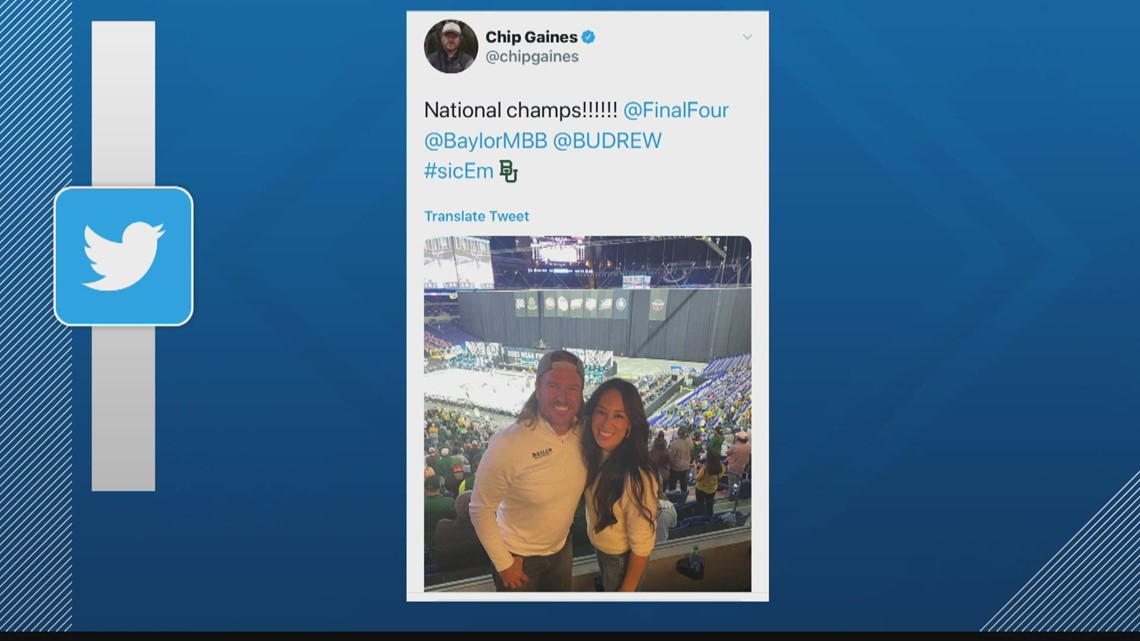 Famous Baylor fans celebrate NCAA Championship in Indy
