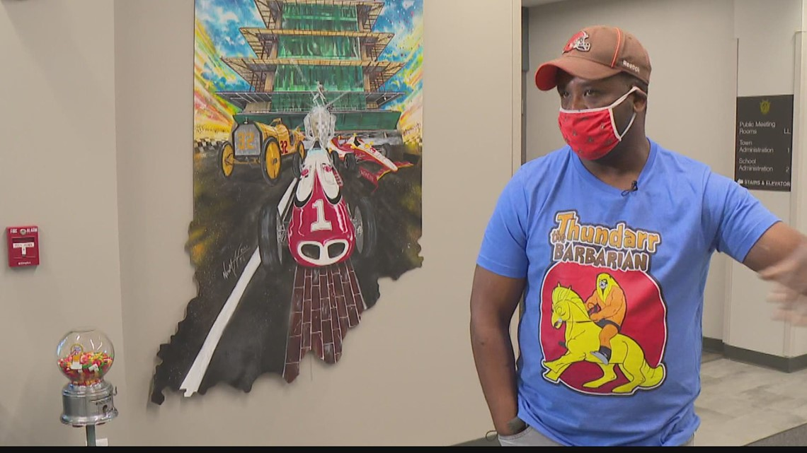 Speedway unveils new exhibit from local artist