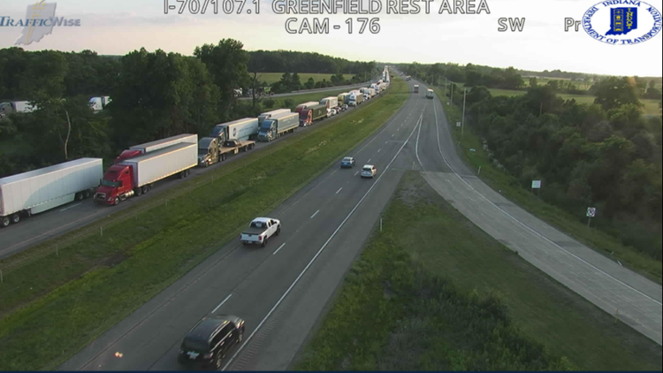 Crash closes I-70 eastbound in Hancock County for third straight night